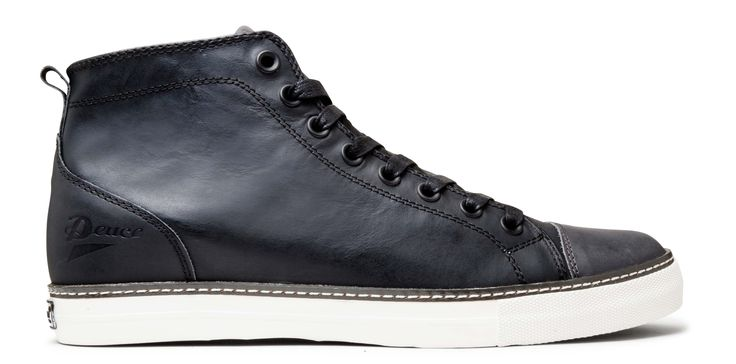 Sneak a bit of weekend casual into your office wardrobe with these slim line Deuce McQueen leather sneakers. $169.90 from Merchant 1948