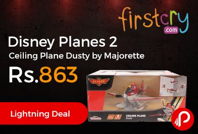 Firstcry is offering 52% off discount on Disney Planes 2 Ceiling Plane Dusty by Majorette at Rs.863 Only. A realistic 1:64 scale model car complete with suspension and doors.  http://www.paisebachaoindia.com/disney-planes-2-ceiling-plane-dusty-by-majorette-at-rs-863-only-firstcry/