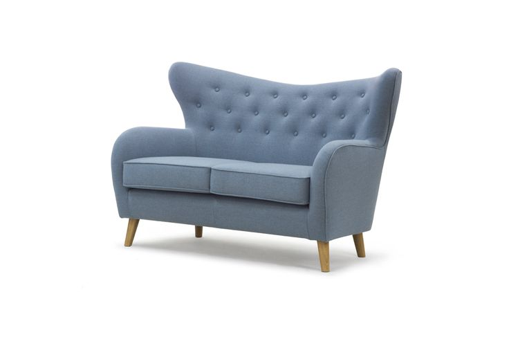 MD 833 - 2S, Fabric Andorra Pigeon Blue, Oak legs, Angle