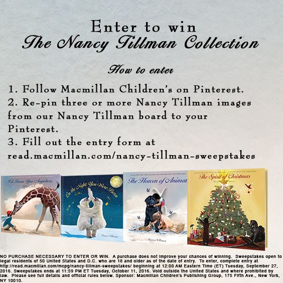 27 best nancy tillman images on pinterest baby books for Enter now to win