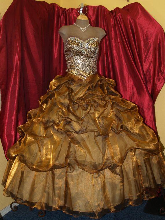 Upcycled Prom Dress Animal Print unique Prom Dress by NewBrideCo