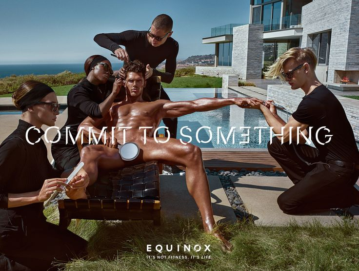 """The 2017 campaign from upscale gym Equinox – shot once again byfashion photographer Steven Klein –continues the theme of the """"Commit to something"""" tagline, showing how commitment can help to define personality."""