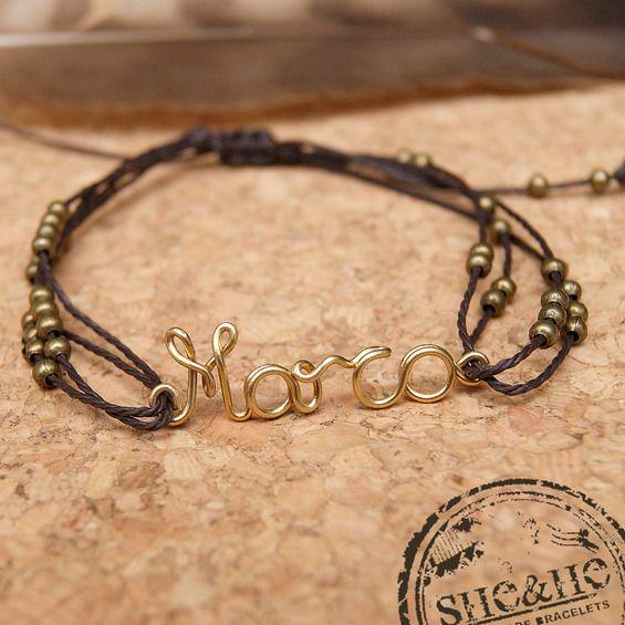 name bracelet, wire name, wire wrapped jewelry, friendship bracelet