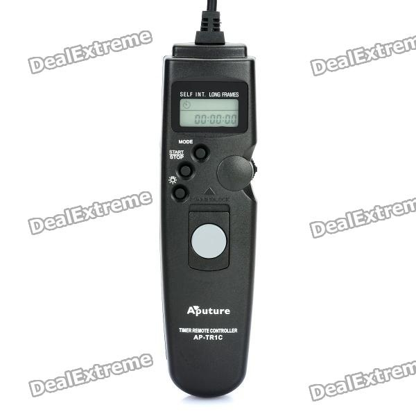 """APUTURE 1.0"""" LCD Wired Timer Remote Shutter Release for Canon EOS 1100D / 60D + More (1 x CR2023)"""