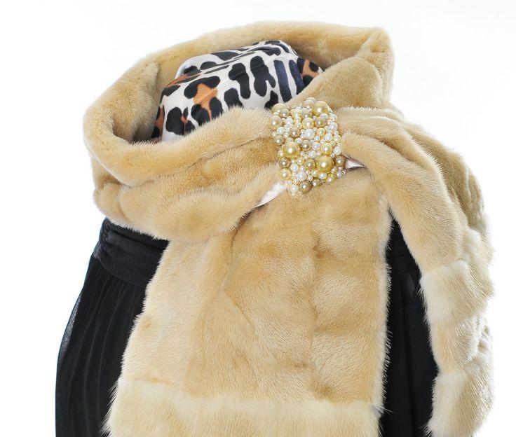 Luxus Pelz Schal Samt Nerz luxury fur scarf mink Pelliccia sciarpa Visone Piel