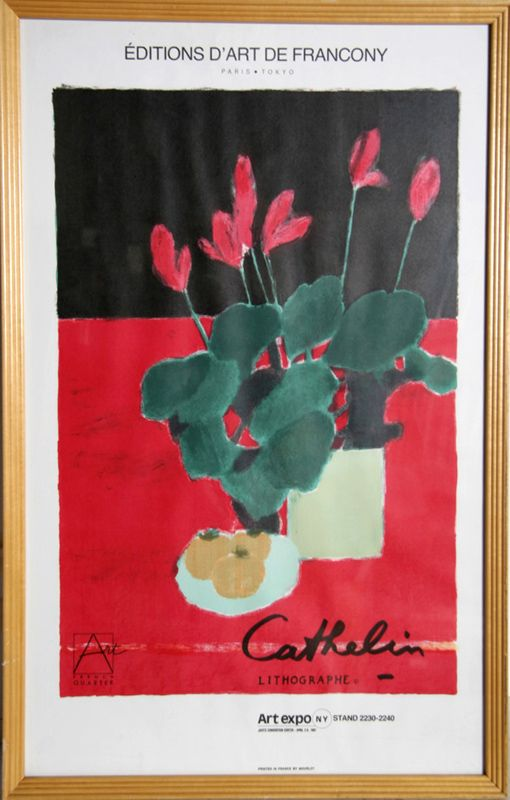 Bernard Cathelin, Still Life - Art Expo, Poster, Year: 1987 | Medium: Poster | Size: 31 x 20 in. (78.74 x 50.8 cm)