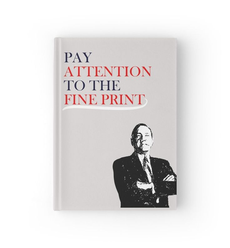 The Fine Print by botts house of cards journal francis underwood frank underwood netflix quotes
