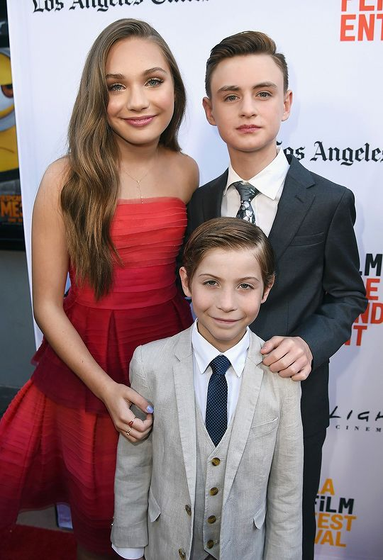 Maddie Ziegler, Jacob Tremblay and Jaeden Lieberher arrive at the 2017 Los Angeles Film Festival - Premiere Of 'The Book Of Henry' (June 14).