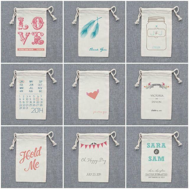 Detalle para invitados: bolsas personalizadas   A todo Confetti - Blog de BODAS y FIESTAS llenas de confetti