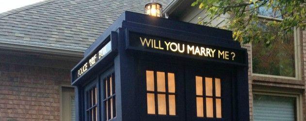 Un TARDIS pour une demande en mariage #DoctorWho #Fiancailles