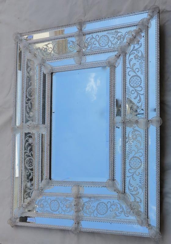 miroir style murano pareclose rectangulaire milieu biseaut 92 x 73. Black Bedroom Furniture Sets. Home Design Ideas