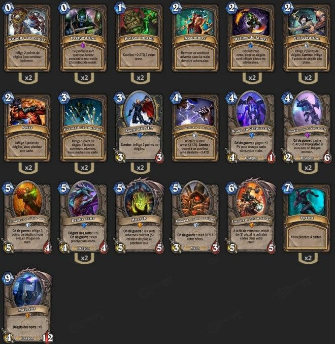 Deck Voleur Malygos TGT Maverick - Hearthstone : Heroes of Warcraft - Voleur - Rogue - Valeera