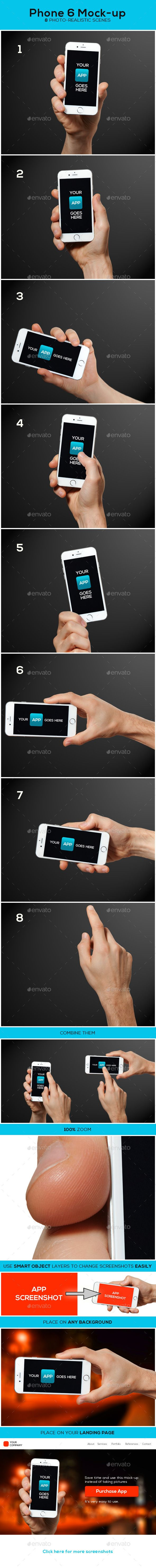 Phone 6 Mockup — Photoshop PSD #present #psd • Available here → https://graphicriver.net/item/phone-6-mockup/9325561?ref=pxcr