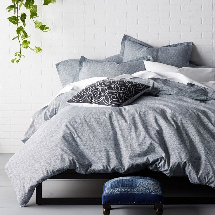 Cstudio Home On Point Navy Duvet Cover / Sham - A contemporary basic, this distinctive duvet cover is patterned with hand-drawn micro-dots for a look that's perfectly imperfect.