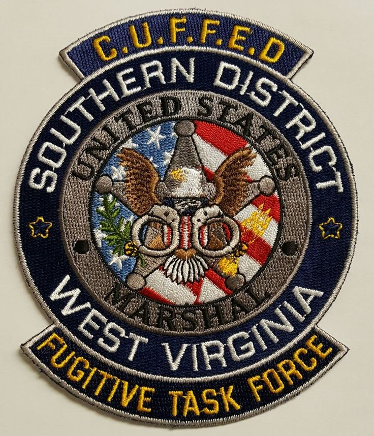USMS US Marshal Service CUFFED Southern District West Virginia Fugitive TF Patch | Collectibles, Historical Memorabilia, Police | eBay!