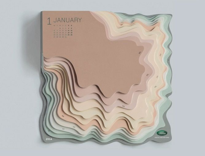 Day-to-Day Calendar Is Cleverly-Designed as 3D Topographical Map - My Modern Met