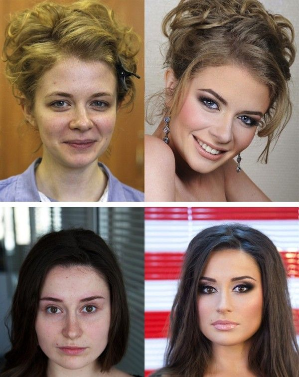 Before and After Makeup Photos by Vadim Andreev