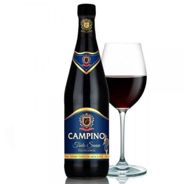 O Vinho Tinto De Mesa Tradicional Campino Tem O Verdadeiro Sabor