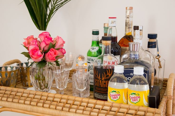 India Hicks Shares Tips for Styling a Bar Cart | Decorist Blog | see more at: https://www.decorist.com/blog/india-hicks-shares-tips-for-styling-a-bar-cart/?utm_source=Iterable&utm_medium=email&utm_campaign=india-hicks-bar-cart