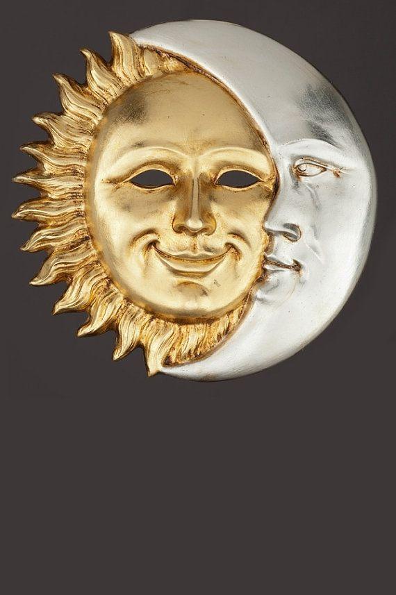 Máscara veneciana Sol et Luna por OriginalVeniceShop en Etsy