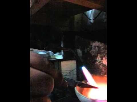 Silver tufa casted slug ring. - YouTube