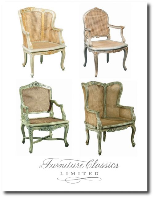 Painted french provence reproduction furniture for the for Classic reproduction furniture