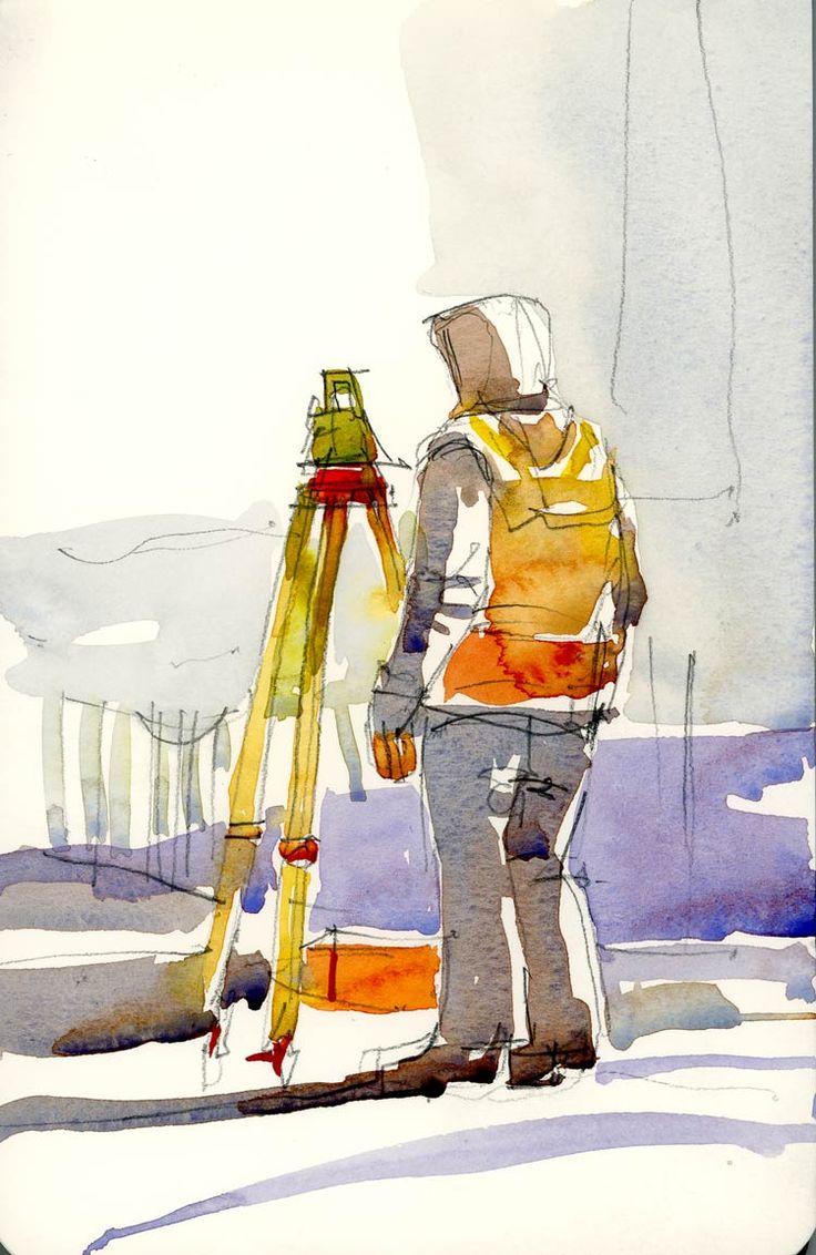Surveyor  The Sketchbook by Shari Blaukopf
