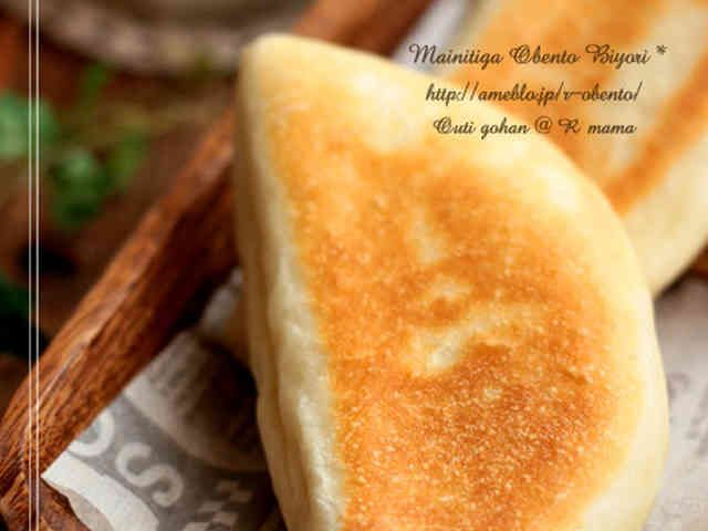 誰でも簡単♪フライパン焼き手捏ねパン!の画像