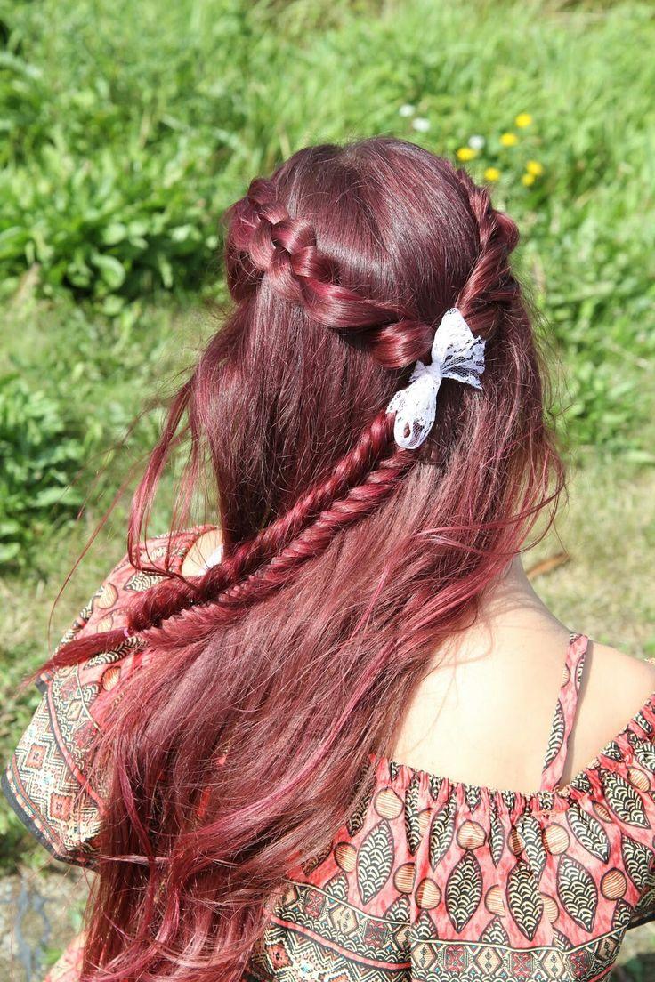 Dutch braids and a fishtail💞