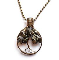 Halsband med livets träd av pyrit från Lady of the Lake Smycken http://ladyofthelake.se