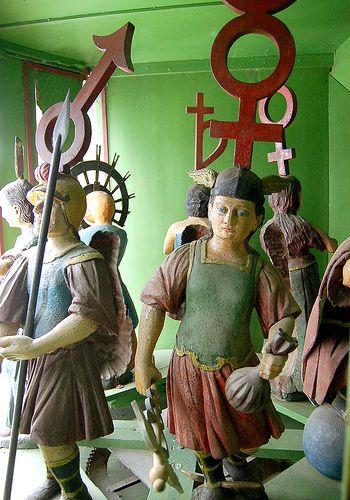 Clocktower figures from the Clock Tower History Museum of Sighişoara, Transylvania.