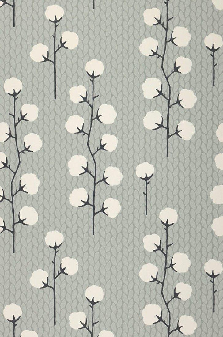 Sweet Cotton | Papel de parede floral | Padrões de papel de parede | Papel de parede dos anos 70