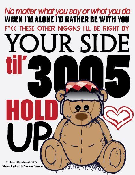 Childish Gambino | 3005 | Song Lyrics | Pinterest | Follow ...