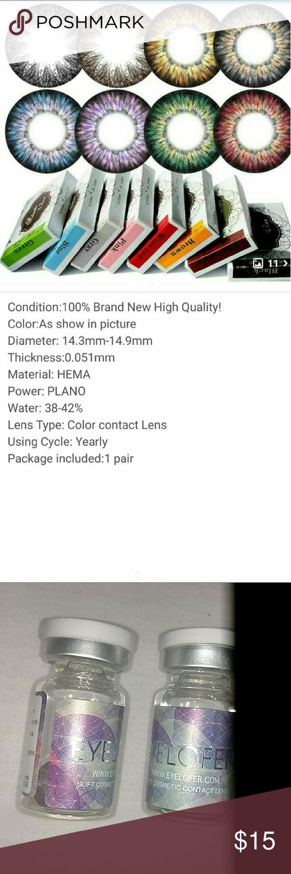 BROWN COLORED NON PRESCRIPTION CONTACT LENSES BROWN COLORED NON PRESCRIPTION CONTACT LENSES   ITEM WILL ARRIVE IN A Vial Versus A Box. Other