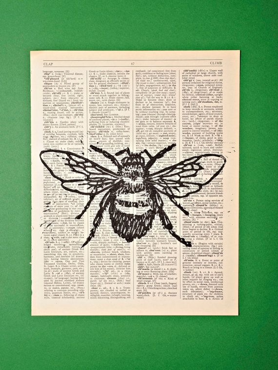 Bee Lino Print by KeenCrafter on Etsy, £9.99