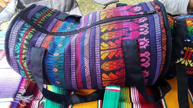 Large Guatemalan Duffel Bag