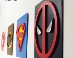 Superhéroe pregunto mujeres arte de la pared arte de pared