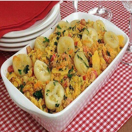 """470 curtidas, 8 comentários - Anuncie sua loja aqui (@estilomulhervirtuosa) no Instagram: """"Pras virtuosas que amam uma receita 😋 Farofa de legumes #agridoce🍌 - Ingredientes  1 xícara (chá)…"""""""