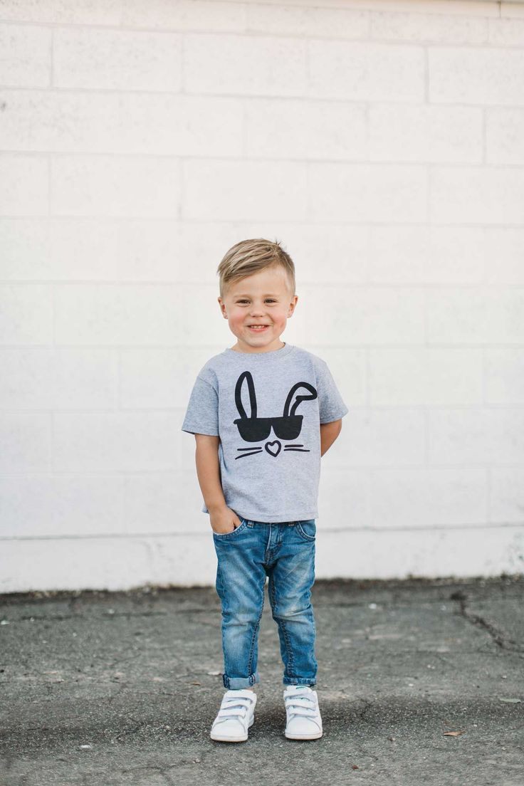 92983fa18671 Toddler Boy Graphic Tee for Easter || bunny rabbit sunglasses t-shirt ||  illustrated tee || cool kid shirt || childrens fashion