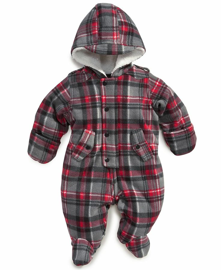 First Impressions Baby Snowsuit, Baby Boys Solid Plaid Snowsuit - Kids Baby Boy (0-24 months) - Macy's