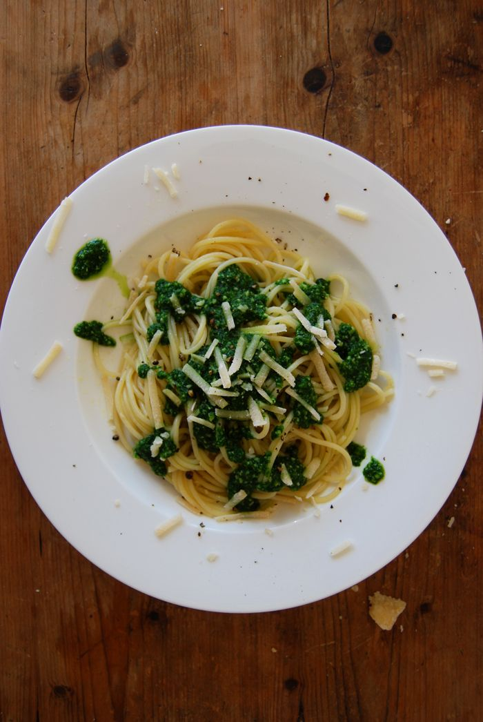 eat in my kitchen ° Spicy Ramp Pesto with Spaghetti