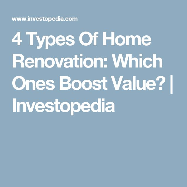 4 Types Of Home Renovation: Which Ones Boost Value? | Investopedia