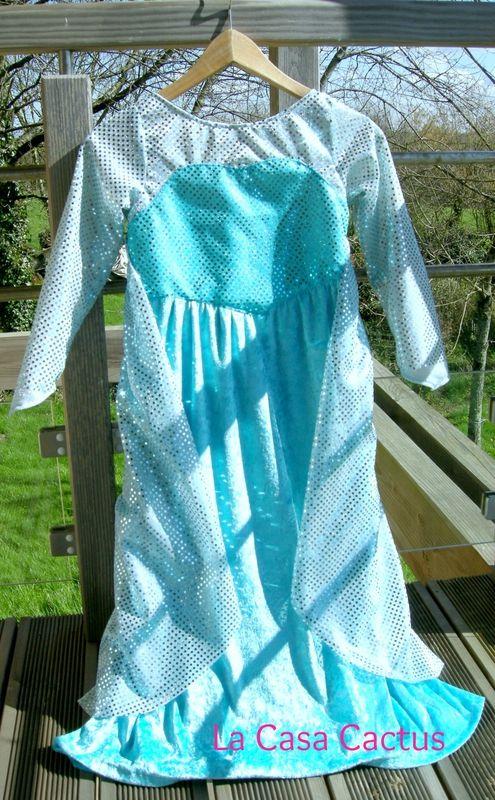 TUTO partie 3 (enfin!): La robe d'Elsa, la reine des neiges/ Frozen