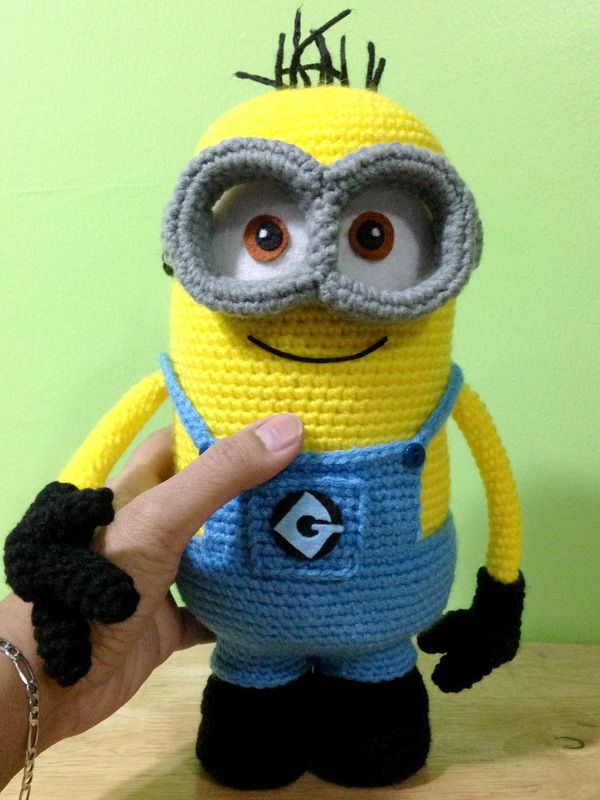 Free Crochet Pattern For Minion Eyes : 17 beste idee?n over Minion Patroon op Pinterest ...