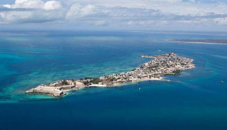 Vista aérea da Ilha de Moçambique