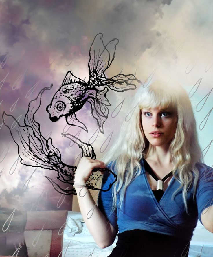 Zodiac sign: pisces <ºj))))><  A photo of me + one of my drawings + edit using photoshop :)