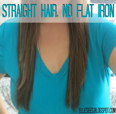 Straight hair without using the flat iron E l l e S e e s: elle's tips
