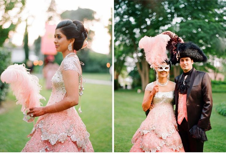 CeciStyle Magazine V118 :: Magical Masquerade :: Our Muse - Vibrant Venetian Wedding Day 2 - Be inspired by Vinita & Muqit's theatrical masquerade ball - wedding