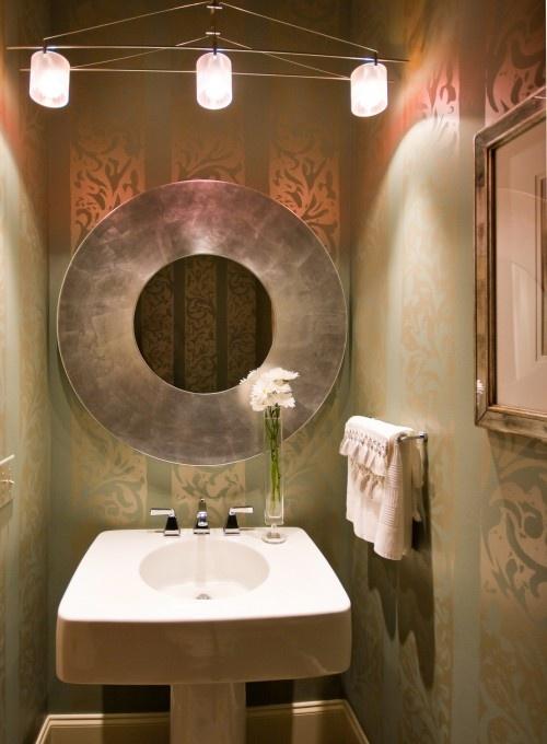 Lorraine G Vale, Allied ASID powder room: Mirror, Ideas, Lorraine Vale, Allied Asid, Room Design, Powder Rooms, Contemporary Powder