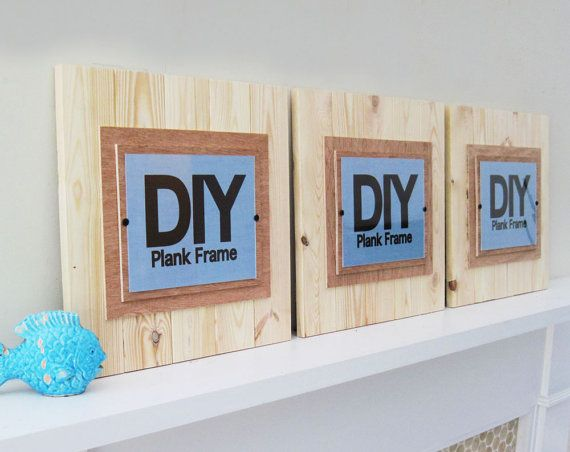 Set of 3 DIY PLANK FRAMES Large 17x17 for by ProjectCottage, $105.00 etsy.com